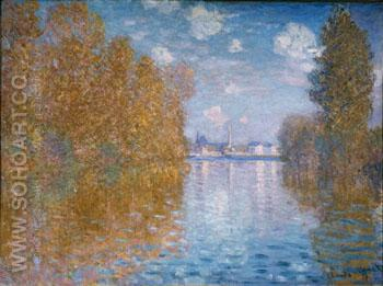 Autumn on the Seine, Argenteuil - Claude Monet reproduction oil painting