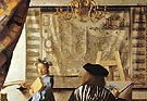 detail form the Art of Painting - Johannes Vermeer reproduction oil painting