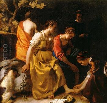 Diana and Her Companions 1654 - Johannes Vermeer reproduction oil painting