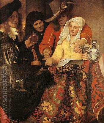 The Procuress 1656 - Johannes Vermeer reproduction oil painting