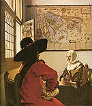 Soldier with a Laughing Girl 1658 - Johannes Vermeer reproduction oil painting