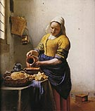 The Milkmaid - Johannes Vermeer reproduction oil painting