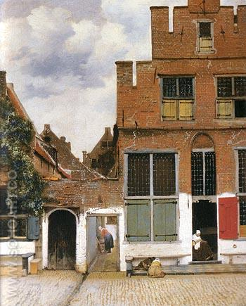 The Little Street 1661 - Johannes Vermeer reproduction oil painting