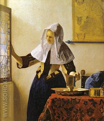 Woman with a Water Jug 1662 - Johannes Vermeer reproduction oil painting
