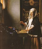 Woman Holding a Balance - Johannes Vermeer reproduction oil painting