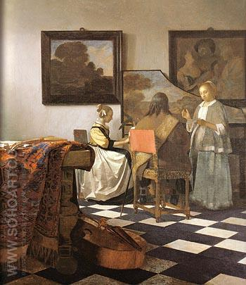The Trio 1664 - Johannes Vermeer reproduction oil painting