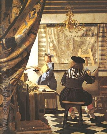 The Art of Painting 1662 - Johannes Vermeer reproduction oil painting