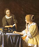 Lady with a Maidservant Holding a Letter - Johannes Vermeer