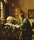 The Astronomer 1668 - Johannes Vermeer reproduction oil painting
