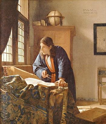 The Geographer 1669 - Johannes Vermeer reproduction oil painting