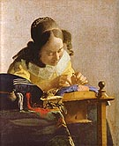 The Lacemaker - Johannes Vermeer reproduction oil painting