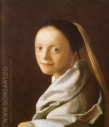 Head of a Girl - Johannes Vermeer reproduction oil painting