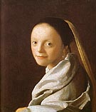 Head of a Girl - Johannes Vermeer
