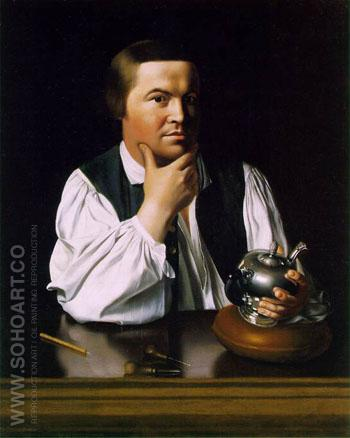 Paul Revere c1768 - John Singleton Copley reproduction oil painting
