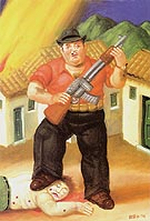 Hunter EI cazador 1999 - Fernando Botero reproduction oil painting