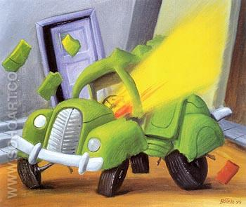 Car bomb 1999 - Fernando Botero reproduction oil painting