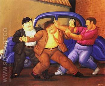 Kidnapping - Fernando Botero reproduction oil painting