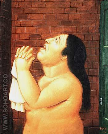 Kidnapping victim - Fernando Botero reproduction oil painting