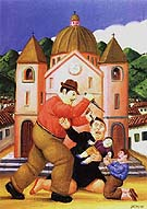 Slaughter of the innocents - Fernando Botero reproduction oil painting