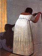 Women Doing Their Hair 1953 - Fernando Botero reproduction oil painting