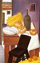 Kitchen Table 1983 - Fernando Botero reproduction oil painting