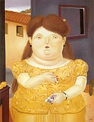 Colombian Woman 1983 - Fernando Botero reproduction oil painting
