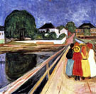 Girls on a Bridge 1902 - Edvard Munch