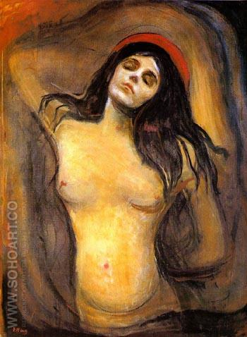 Madonna 1894-95 - Edvard Munch reproduction oil painting