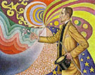Portrait of Felix Feneon, Opus 217 Against the Enamel of a Background - Paul Signac