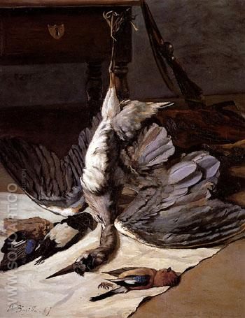 The Heron 1867 - Frederic Bazille reproduction oil painting