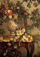 Flowers 1868 - Frederic Bazille reproduction oil painting