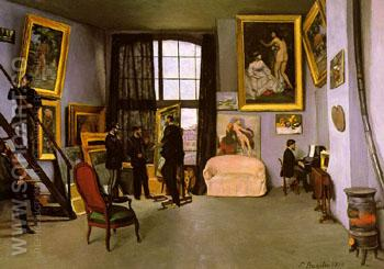 The Artist's Studio 9 Rue de la Condomine - Frederic Bazille reproduction oil painting