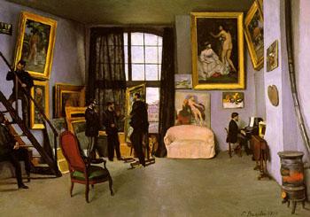 The Artist's Studio 9 Rue de la Condomine - Frederic Bazille reproduction oil painting