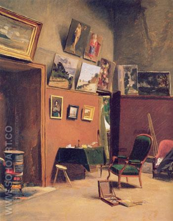 Studio in the Rue de Furstenburg - Frederic Bazille reproduction oil painting