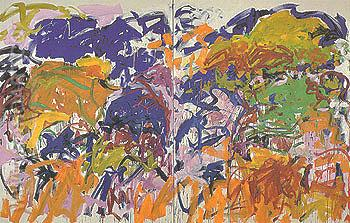 Ici 1992 - Joan Mitchell reproduction oil painting