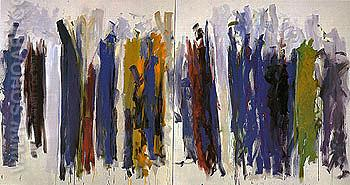 Trees 1990 - Joan Mitchell reproduction oil painting