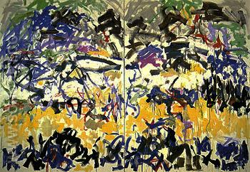 River 1989 - Joan Mitchell reproduction oil painting