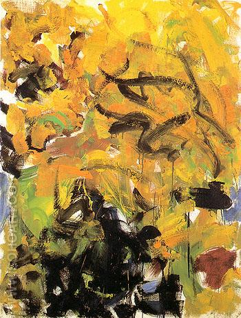 River IV 1986 - Joan Mitchell reproduction oil painting