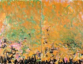 Two Sunflowers 1980 - Joan Mitchell reproduction oil painting