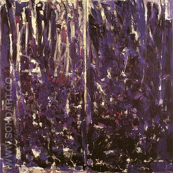 Une Pensee Pour Zouka 1976 - Joan Mitchell reproduction oil painting