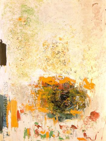 Sunflower 1970 - Joan Mitchell reproduction oil painting