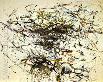 October Island 1956 - Joan Mitchell reproduction oil painting