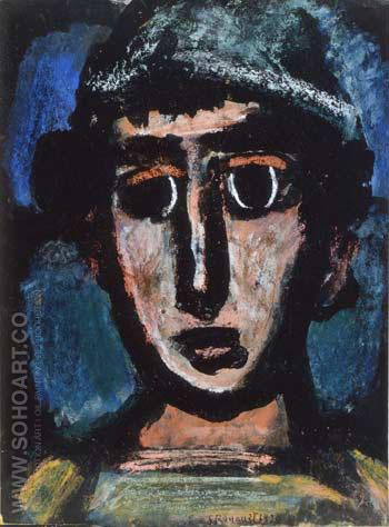 Tete le Clown, Paris, 1930 - George Rouault reproduction oil painting