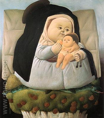 Madonna and Child 1965 - Fernando Botero reproduction oil painting