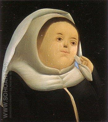 Mother Superior 1966 - Fernando Botero reproduction oil painting