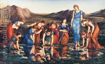 The Mirror of Venus - Edward Burne-Jones reproduction oil painting