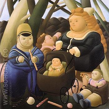 The Rich Children 1968 - Fernando Botero reproduction oil painting