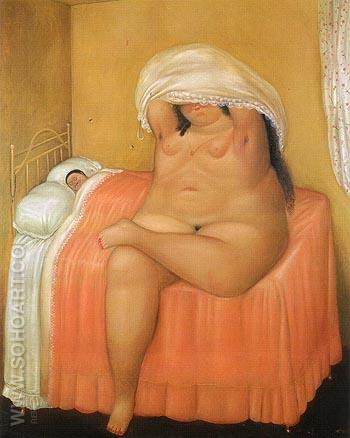 The Lovers 1969 - Fernando Botero reproduction oil painting