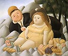 Picnic in The Mountains 1966 - Fernando Botero reproduction oil painting