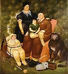 Family Scene 1969 - Fernando Botero